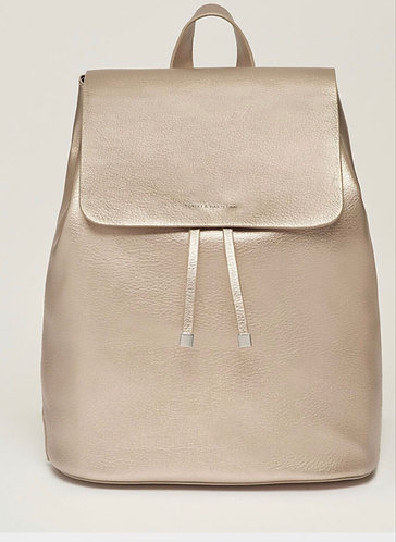 The Copperfield Pewter Vegan Leather BackPack by Estella Bartlett