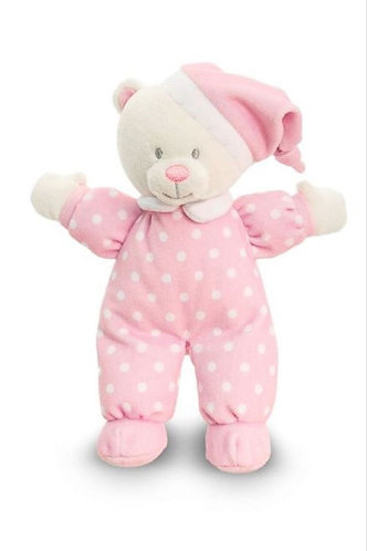 Sleepy Time Goodnight Baby Bear in Pink By Keel Toys