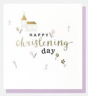 Happy Christening Day Card by Caroline Gardner
