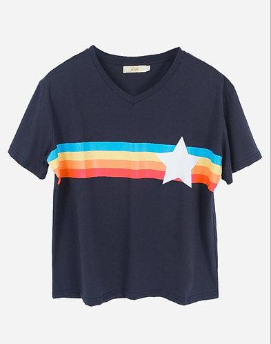 Navy Rainbow Star T-Shirt by Sarta