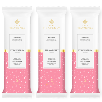 Strawberry Chocolate Bar 30g by Pure Heavenly