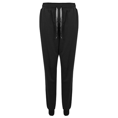 Tess Jogging Pants in Black with Ribboned Waist by Chalk UK