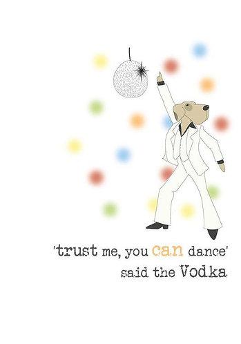 Vodka Card by Dandelion Stationery