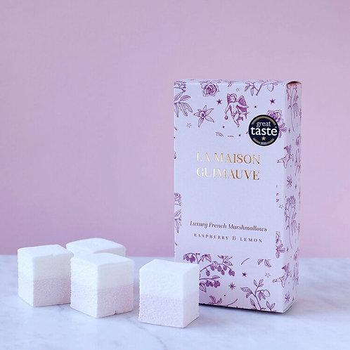 French Style Raspberry & Lemon Gourmet Marshmallows by La Maison Guimauve