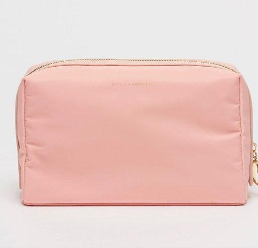 Travel Clutch / Wash Bag Kiss & Make Up in Pink by Estella Bartlett