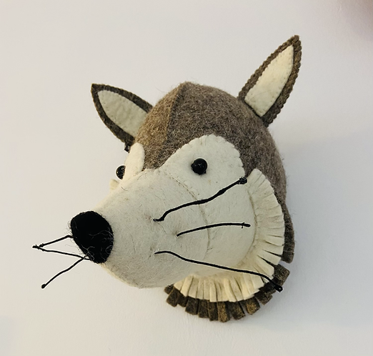 New Wolf Head Wall Decoration By Fiona Walker England