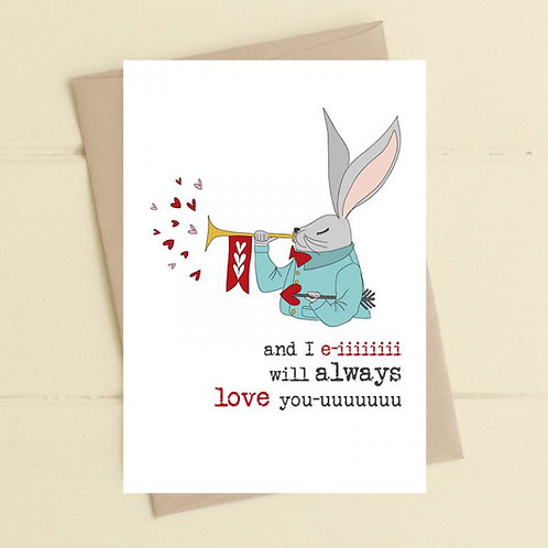 Love You Card by Dandelion Stationery