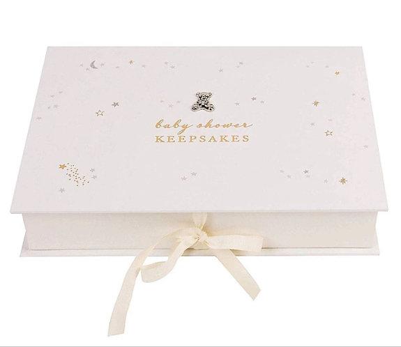 Cream & Gold Baby Shower Keepsakes Box by Bambino