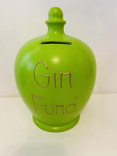 Terramundi Money Pot 'Gin Fund' in Lime & Gold