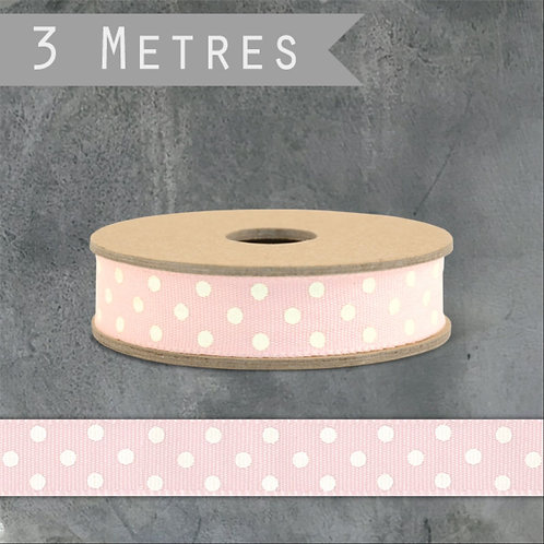Pink Spotty Grosgrain Ribbon By East of India