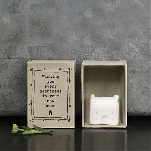 Gift Boxed Porcelain House Happiness In Your New Home by East of India