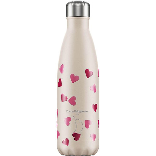 Emma Bridgewater Pink Hearts 500ml Reusable Water Bottle by Chilly's