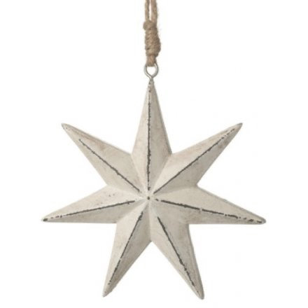 Nordic Yule Rustic 7 Point Star Decoration