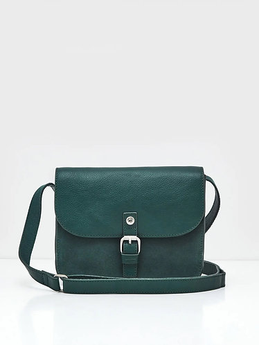 Eve Leather Buckle Satchel in Autumnal Teal by White Stuff