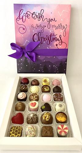 Rosie's Chocolates Christmas Advent Calendar Pink Skies Preorder