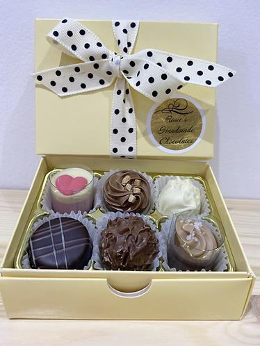 Rosie's Luxury Box of 6 Handmade Belgian Chocolates