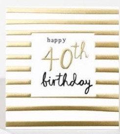 40th Birthday Card by Caroline Gardner