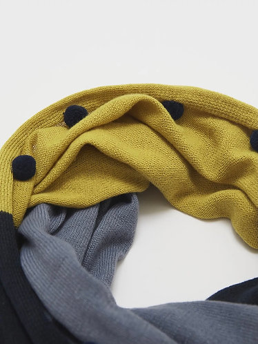 Recycled Supersoft Knitted Pompom Snood by White Stuff