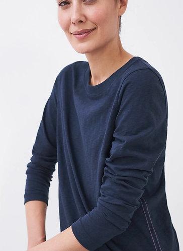 Cassie Crew Plain Long Sleeve T-Shirt by White Stuff
