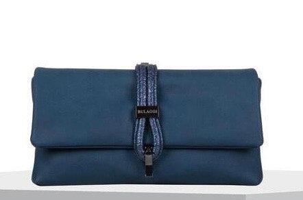 Blue Bibis Clutch Bag with Metallic Strap by Bulaggi
