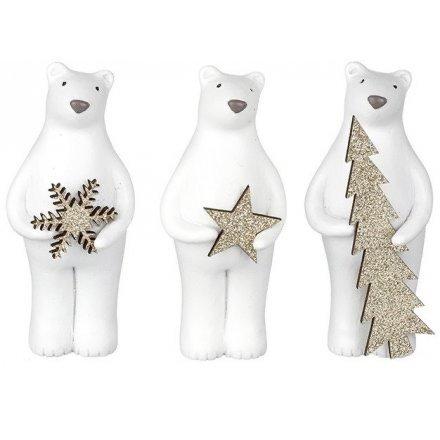 Winter Wonderland Resin Assorted Bear Decoration