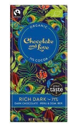 71% Rich Dark Chocolate Bar by Chocolate & Love