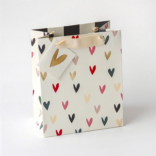 Small Gift Bag Hearts by Caroline Gardner