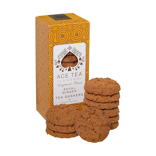 Royal Ginger Biscuits by Ace Tea London