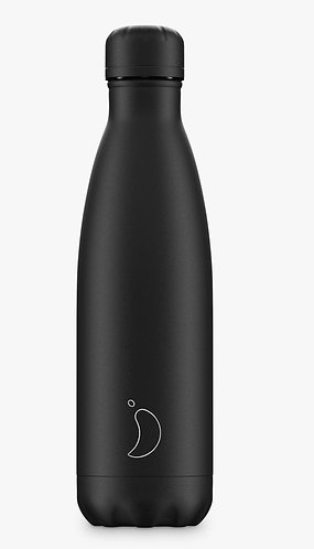 All Black Monochrome Edition 500ml Reusable Water Bottle by Chilly's