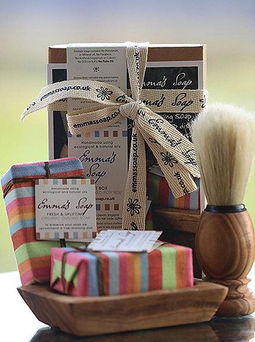 Organic Shaving Gift Box by Emma's Soap
