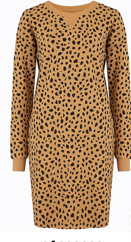 Tegan Animal Spot Sweatshirt Dress by Sugarhill Brighton