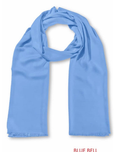 Stunning Indian Woven Scarf In Bluebell
