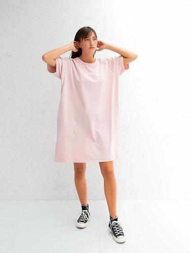 Linda Pink Short Sleeved Jersey Dress by Chalk UK