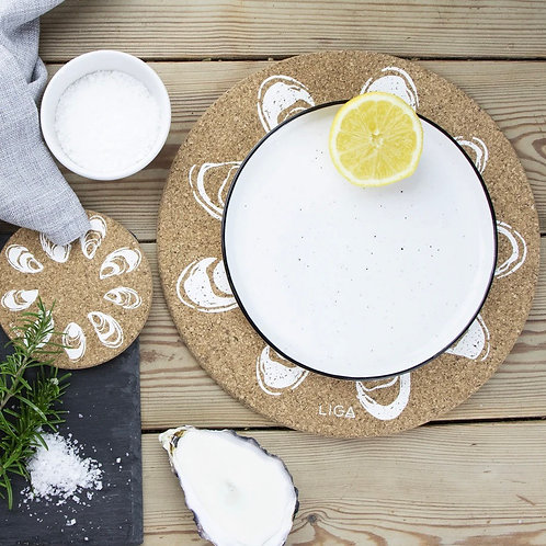 Mussels Cork Coaster Set of 4 by Eco Friendly Liga of Cornwall