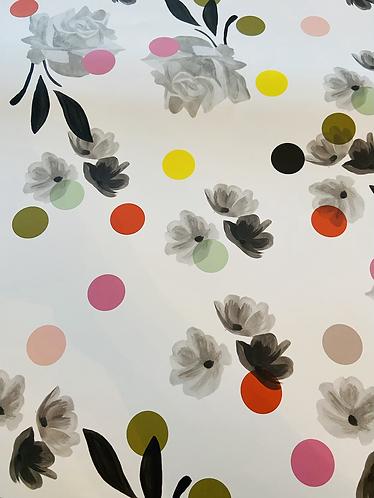 Floral & Dots Gift Wrap Sheet by Caroline Gardner