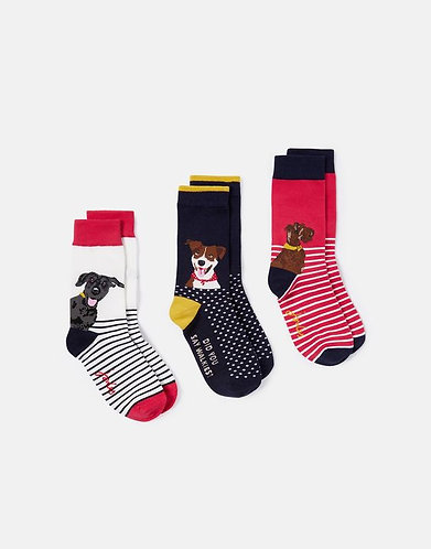 Brill Bamboo Socks 3 Pack of Doggies by Joules