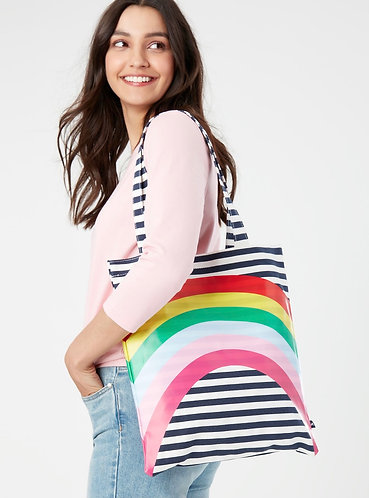 Lulu Rainbow Canvas & Vinyl Tote Bag by Joules