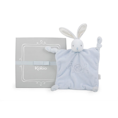 Gift Boxed Baby Square Doudou Rabbit Blue by Kaloo Perle