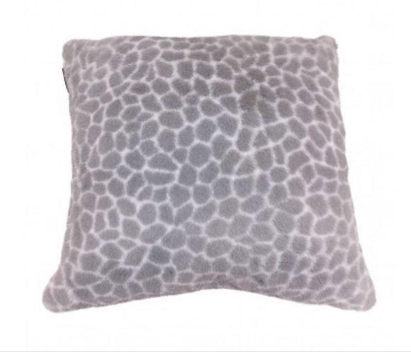 Luxurious Square Faux Fur Cushion Giraffe 45 x 45cm by Mars & More