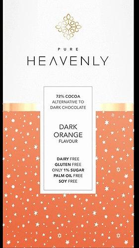 Dark Orange Chocolate Bar 85g by Pure Heavenly