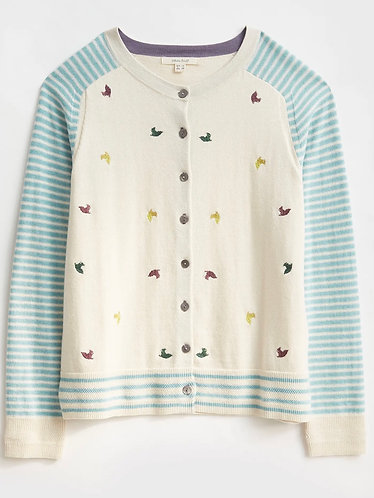 Organic Cotton Embroidered Hawthorn Cardigan by White Stuff