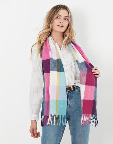 Bracken Check Warm Handle Scarf by Joules