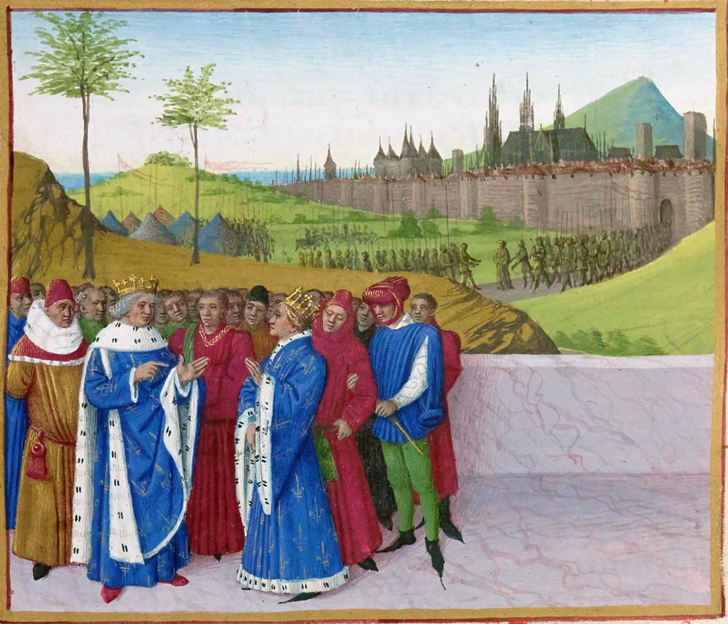Discussion Between Saint Guntram and Childebert II