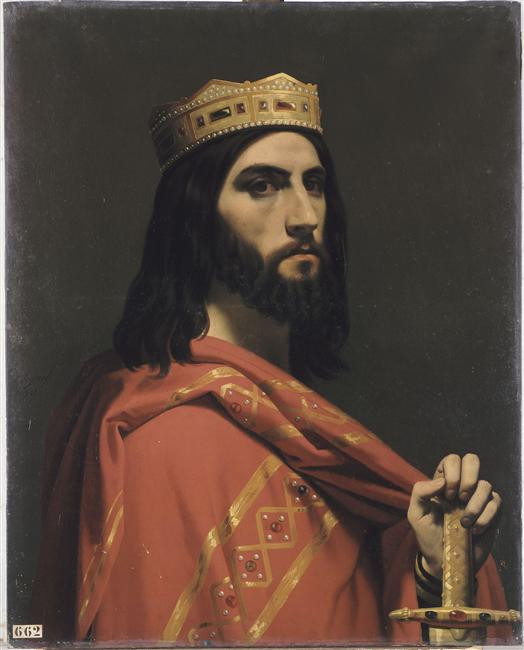 This painting, by Emile Signol (1804-92) belongs to the Portraits of Kings of France, a series of portraits commissioned between 1837 and 1838 by Louis Philippe I and painted by various artists for the Musée historique de Versailles