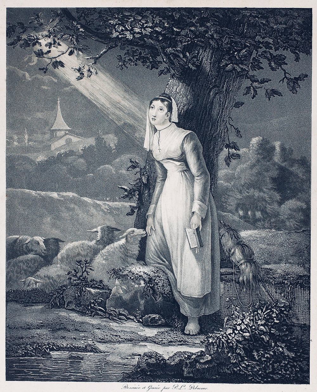Debucourt, Philibert Louis. Saint Genevieve, 1775–1832. The Art Institute of Chicago.
