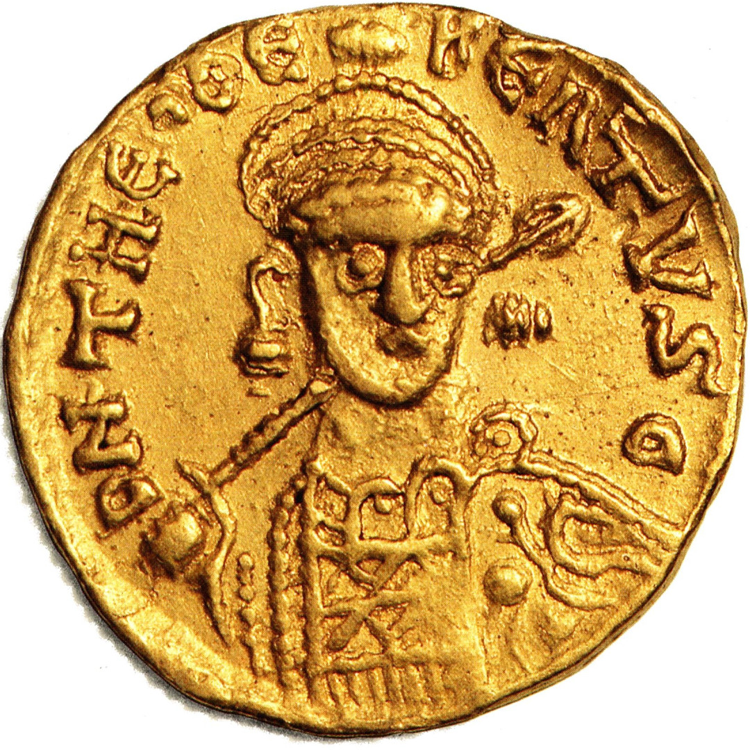 Gold Solidus of Theudebert I