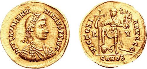 Valentinian III solidus