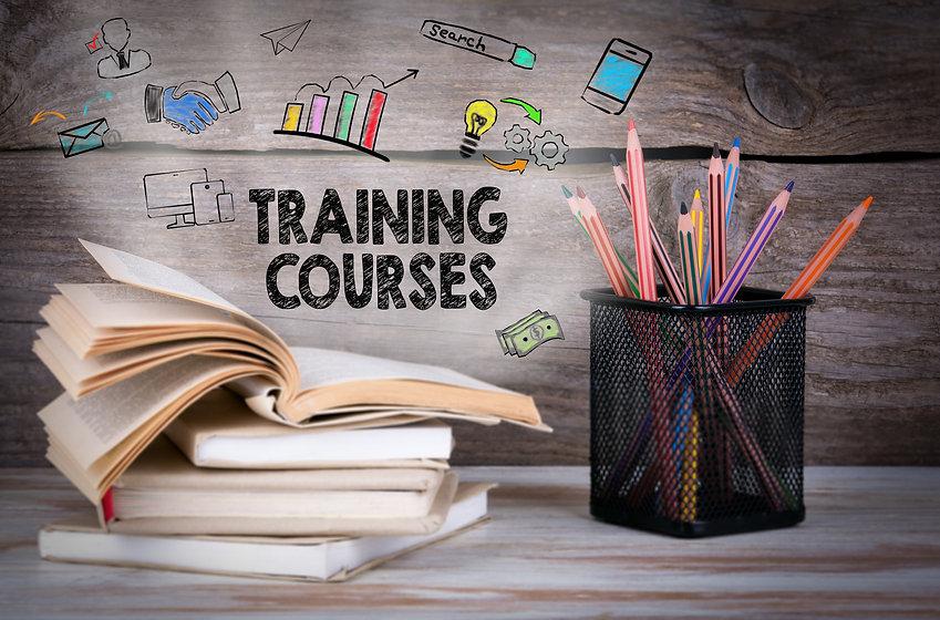 Training Courses, Business Concept. Stac