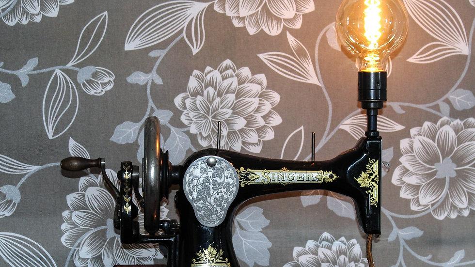 1908 Singer Sewing Machine Model 28K Vintage Lamp