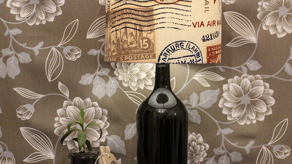 You've Got Mail - Handmade Bottle Lamp With Shade